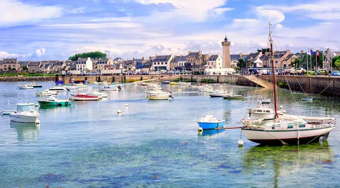 Fisherman's boats in the harbour of Roscoff.