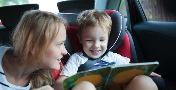 If your kids get travel sick reading in the car, there are lots of other story time activities to keep them entertained.