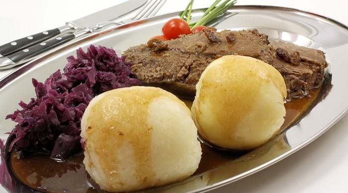 Nothing warms you up like a plate of sauerbraten.