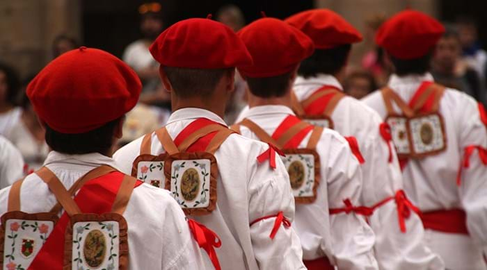 French Basque men wearing ceremonial dress