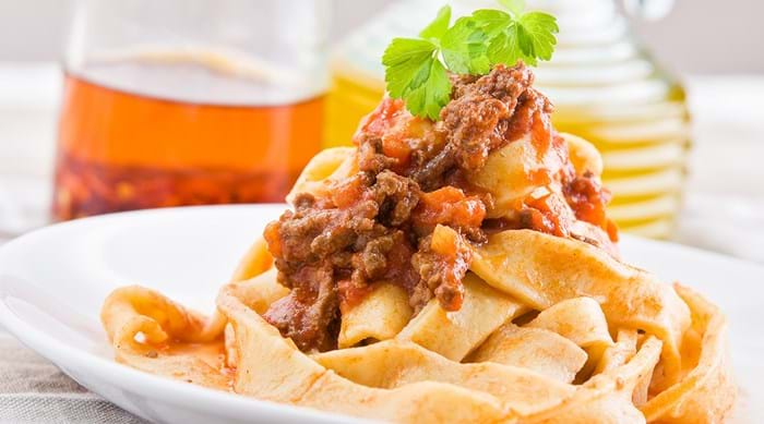 Tagliatelle al ragù is a delicious and traditional meal from Bologna