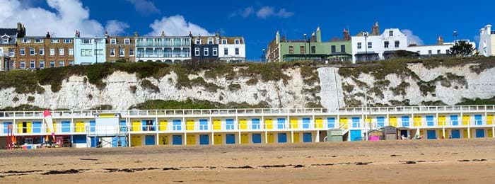 La plage à Viking's Bay, à Broadstairs dans le Kent