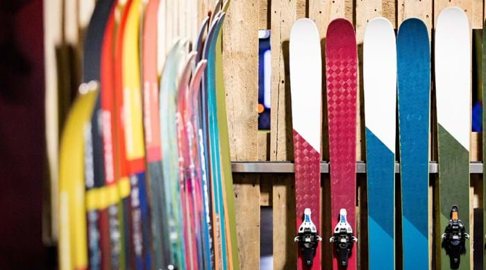Skis ready to rent.